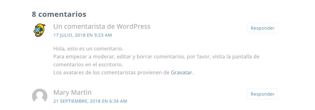 Comentario WordPress